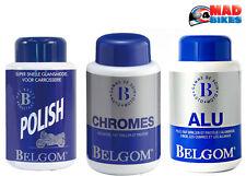 Belgom Alu, Chrom, Politur 3 Flaschen Set für Motorrad Chrom, Aluminium & Malen