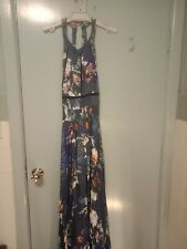 Jaase maxi dress with open back in blue in size M