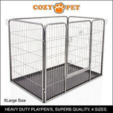 Heavy Duty Cozy Pet Puppy Playpen Run Crate Pen 90cm High Dog Cage - ABS Floor