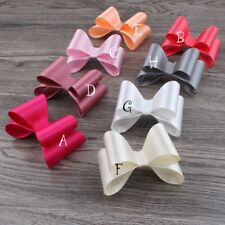 "30pcs/lot 3.2"" 16colors Luxe Kids Hair Bows For Headbands NO CLIPS"