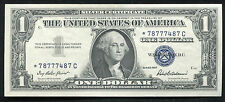 1957 $1 ONE DOLLAR *STAR* SILVER CERTIFICATE NOTE ABOUT UNCIRCULATED (B)