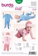 Burda Kids patrón de costura fácil Baby coordina Cap & Calzas & Top 9423