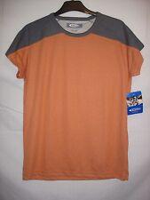 Womens Gelert Pumpkin Grey Walking Hiking Short Sleeved Tasmania T-Shirt Size 16