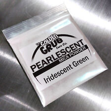 NEW 1 OZ. Bi-Color IRIDESCENT GREEN Pearly Mica Powder Fishing Plastisol