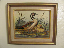 """Maria Lak Original Oil Painting Ducks. """"Two Is Company"""" Signed Certificate."""