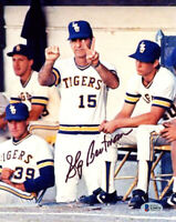 SKIP BERTMAN SIGNED 8x10 PHOTO LSU TIGERS BASEBALL LEGEND NCAA RARE BECKETT BAS