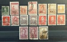 Argentina Stamp Collection Lot of 17 Used w/Official Overprints