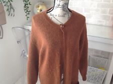 selected femme ladies brown long cardi with front pockets in size s lovely item