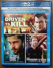Action Triple Feature Driven to Kill To Young to Die President's Man NEW Blu-ray