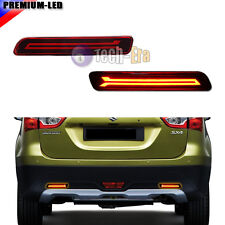 2x LED Rear Bumper Reflector Brake Tail Lights For Suzuki SX4 Vitara Ciaz Ertiga