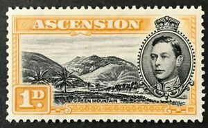 ASCENSION S#41a 1942 King George VI Perf:13 Mint NH OG VF (O-105)
