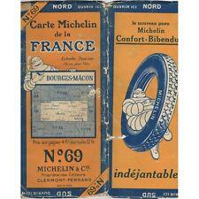 CARTE Michelin N°69 BOURGES-MÂCON Moulins Beaune Montluçon Château-Chinon 1927