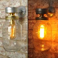 2 X CARTER Wall Light. 20% VAT inc. Industrial Style Jar Vintage Retro CE MARKED