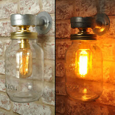 CARTER Wall Light. 20% VAT inc. Industrial Style Jar Vintage Retro CE MARKED