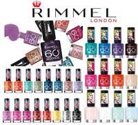RIMMEL 60 SECONDS NAIL POLISH / VARNISH 8ML BRAND NEW **CHOOSE SHADE**