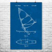Wind Surfing Board Poster Print Surf Shop Art Wind Surfing Decor Surfer Gift