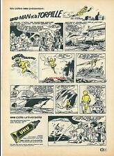 Publicité 1965 UHU MAN colle bande dessinée BD   advertising