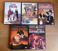 DVD  Lot de 5 Films spécial WESTERN ,John Wayne-Clint Eastwood-etc...