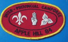 Inter Provincial Camporee Canada Apple Hill Ontario 1984 Boys Scouts Patch
