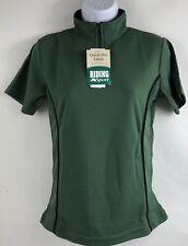 Dover Saddlery Shirt Competition Style Short Sleeve Size Medium Green NWT