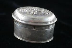 ANTIQUE 19th Century HANDMADE BURMESE REPOUSSE 800 SILVER BETEL NUT LID BOX
