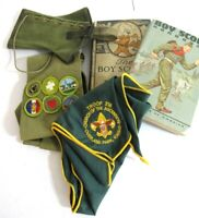 Vintage Boy Scout Lot Scarf Sash Patches 1916 Boy Scouts In Russia Books Legging