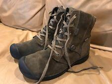 KEEN Reisen Zip WINTER Lace WP WATERPROOF Leather Boots Womens sz 9