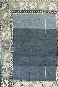 Contemporary Bordered Moroccan Oriental Area Rug Wool Hand-knotted 8x11 Carpet