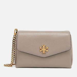 NWT Tory Burch Crossbody Kira Mixed Material Gray Leather Shoulder Bag $395