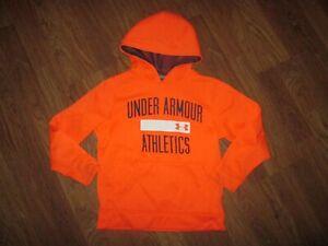 Boys UNDER ARMOUR  fleece lined hooded hoodie sweatshirt sz YXS XS