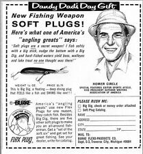 1966 Print Ad Burke Flex Plug & Soft Plug Fishing Lures Traverse City,MI