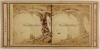 Italia Capri Grotta Azzurro Foto Stereo Sommer & Behles Vintage Albumina c1865