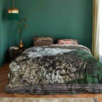 Bedding House Tales Black Quilt Cover Set Queen King Size Cotton