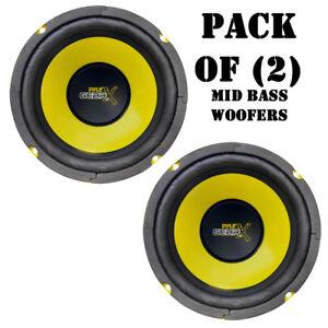 "Lot of (2) Pyle PLG64 6.5"" 300 Watt, 4 Ohm, Mid Bass Woofers, Car Audio System"