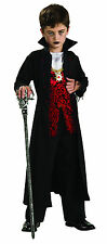 Kids Royal Vampire Costume Gothic Dracula Halloween Spooky Child Size Lg 12-14