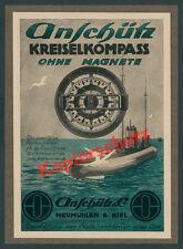 Anschütz U-Boot SM U 155 Deutschland Kreiselkompass Kiel Kaiserliche Marine 1918
