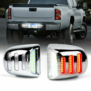 Xprite Chrome LED License Plate Light Assembly for 1999-2013 Chevrolet Silverado