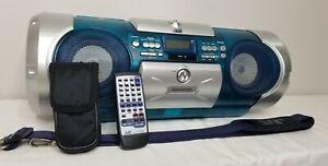 JVC STEREO BOOMBOX - RV-B550 (Blue & Gray) Cassette Deck / CD Player / Stereo