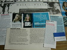 HEATHER NOVA - MAGAZINE CUTTINGS COLLECTION (REF Z6)