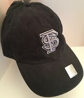 Florida State Noles Black Size Medium Fitted Franchise Hat New NCAA