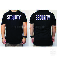 Mens Security Guard Detail Bouncer T-Shirt Front/Back Print Graphic Tee S-3XL