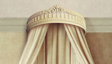 Elegant Hand Crafted Shabby Chic Cream Bed Crown - Real Wood - Canopy - Teester
