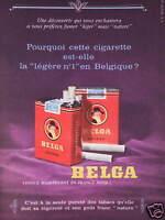 PUBLICITÉ 1960 CIGARETTE BELGA LÉGÈRE BELGE - TABAC