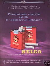 PUBLICITÉ 1960 CIGARETTE BELGA LÉGÈRE BELGE - ADVERTISING
