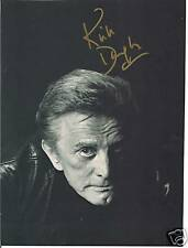 Kirk Douglas, Autograph, Gold Pen, Major Hollywood 90+ Star, Hand signed in per