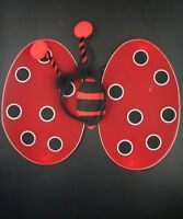 Red Black Ladybird Wings Fancy Dress Costume Bug Set Dressing Up Party Hen Night