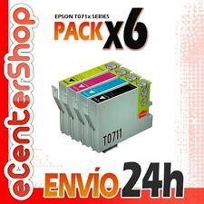 6 Cartuchos T0711 T0712 T0713 T0714 NON-OEM Epson Stylus D78 24H