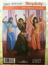 Simplicity 2941 3 Belly Dancer Costume Pattern sz 14-20