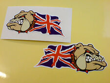 BRITISH BULLDOG & UNION JACK Car Van Motorcycle Stickers Decals 2 off 50mm