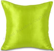 """Lime Green Taffeta/Faux Silk 18"""" Cushion Cover Pillow Case BNIP"""